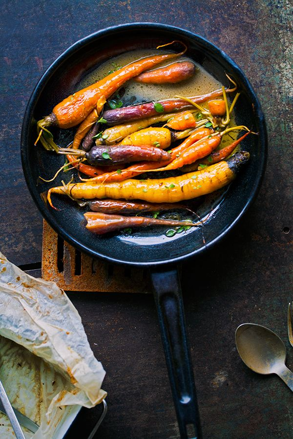 Lovely braised carrots. Braised slowly on a low temperature in the oven, they get super tender and sweet. | jernejkitchen.com