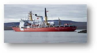CCGS Des Groseilliers  Class: Medium Icebreaker. A sizable vessel capable of sustained icebreaking and escort operations in the Arctic for 2 seasons per year and in the Great Lakes, St. Lawrence Seaway and Atlantic coast in winter. Home port: Québec, Que.  Length: 98 m   Beam: 19.8 m Gross tonnage:  6100 t  Crew/officer capacity: 35  Cruising speed: 12kts  Builder: Port Weller Dry Docks Ltd.   Launched: 1972 Status: In service