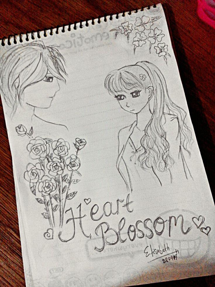 I draws Illustration for my fiction story. Heart Blossom