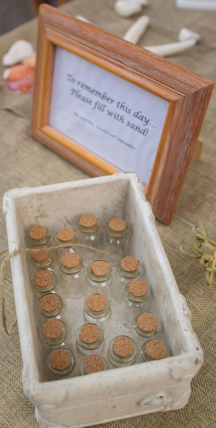 We loved this beach wedding favor!