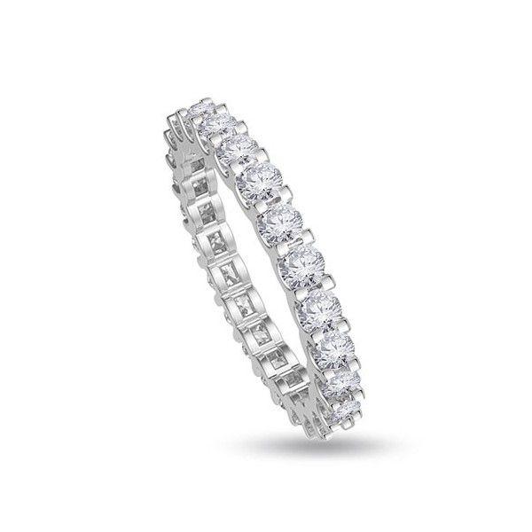 FULL VERETTA ANELLO 18CT ORO BIANCO | Anello Full Eternity con Diamanti Taglio Brillante montati in Griffe. I peso totale carati per l` Anello varia da 1.00ct a 1.50ct. Tutti Diamanti sono F, G, H ed I colore e VS1 e SI1 purezza. Questo anello e` accompagnato dal certificato del diamante.