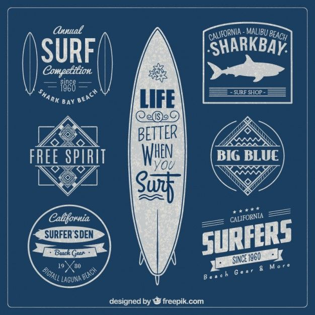Surfer Logotype/stamp