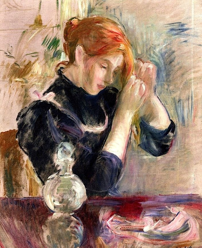 199 best images about berthe morisot on pinterest for Devant le miroir manet