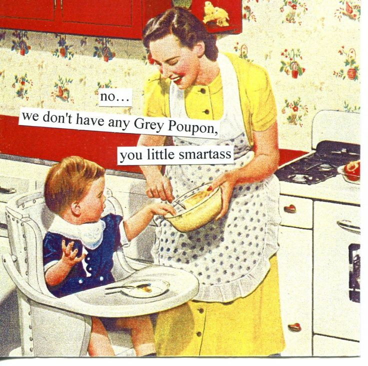 My friend Renee is so funny!!!  no, we don't have any Grey Poupon, you little smartass