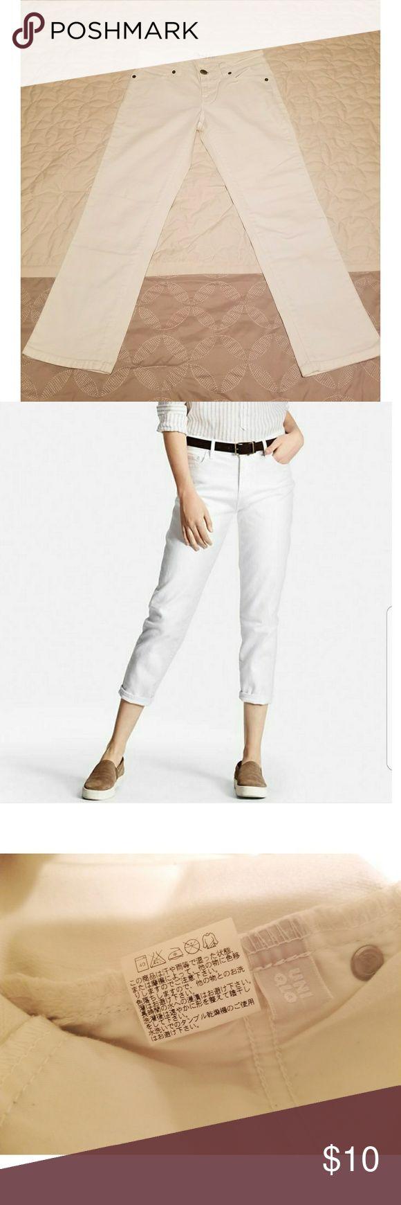 I just added this listing on Poshmark: Uniqlo Skinny Fit Cropped White Jeans. #shopmycloset #poshmark #fashion #shopping #style #forsale #Uniqlo #Denim