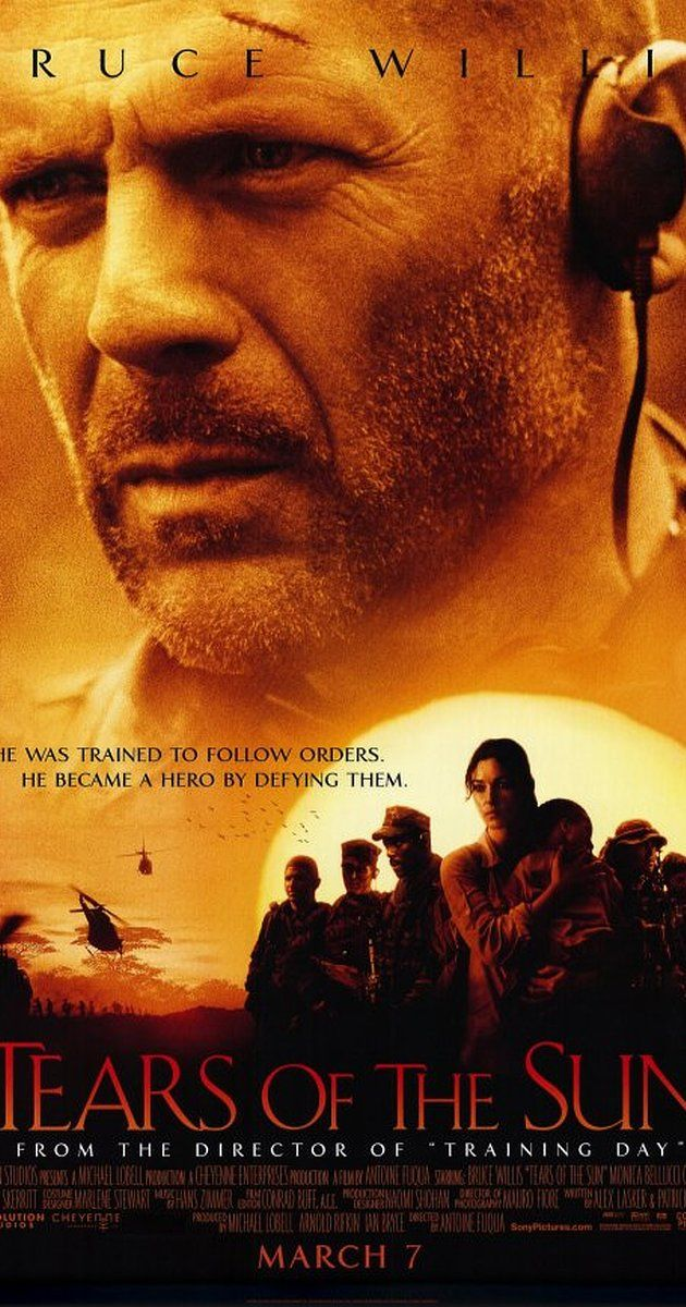 Directed by Antoine Fuqua.  With Bruce Willis, Cole Hauser, Monica Bellucci, Eamonn Walker. A Special-Ops commander leads his team into the Nigerian jungle in order to rescue a doctor who will only join them if they agree to save 70 refugees too.