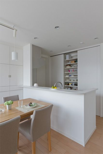 価格 Com 収納を増やしたキッチン キッチンのリフォーム事例