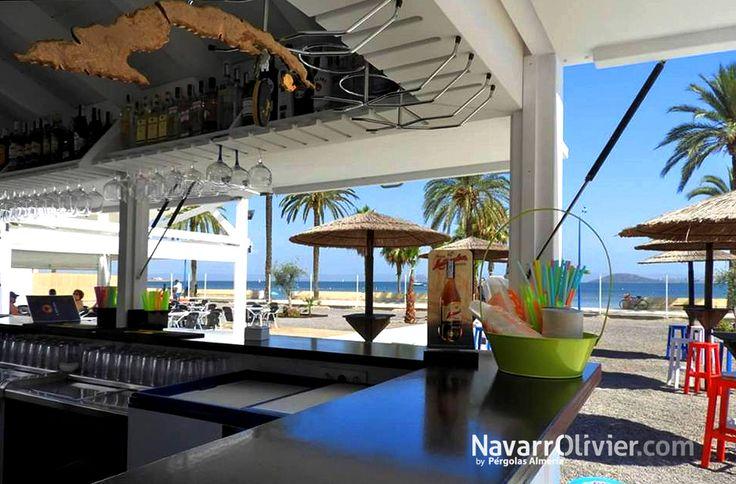 Chiringuito Rincón Cubano  - Beach Club, Playa Honda, La Manga del Mar Menor, Cartagena.  #chiringuito #modulo #Cartagena #LaManga #beachtime #BeachClub #navarrolivier #kiosco #Murcia #bar #Murcia