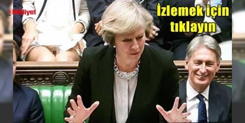 """Milletvekilinden """"Temel İçgüdü"""" frikiği: İngiltere televizyondan canlı yayınlanan Başkaban Theresa May'in parlamentodaki son konuşması ile çalkalanıyor. Çünkü Başbakan'ın konuşma yaptığı sırada kameranın açısına tam arkasında oturan vekil Lucy Frazer denk geliyordu. Frazer kameraların eteğini görüntülediğini farkettikten sonra dosya ile ..."""