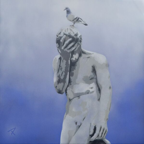 """""""Ne Pas Encore"""" 90cm x 90cm. For more information please contact REDSEA Gallery on (07) 3162 2230 © Christian Palmer"""