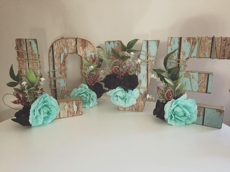Love letters for the reception.. rustic style
