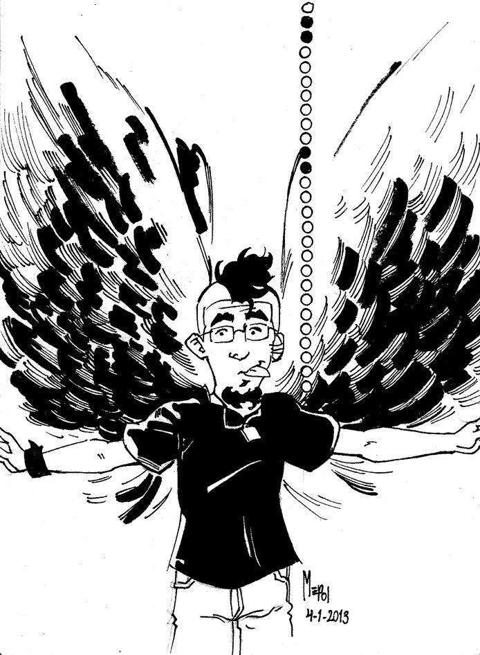 No vengo muy inspirado para escribir #LaOrejaDeMepol, ni para dedicarme a hacer las ilustraciones diarias. Arrancando con la rutina y varias actividades, el tiempo y las energías son dos cosas que escasean. Sin embargo, no quiero dejar de poder dejar de ilustrar #LaOrejaDeMepol de cada día, por lo que hago despliegue de mis alas en esta ilustración, para poder volar un poco más y no dejar de dibujar. > http://www.mepolus.com.ar/laorejademepol-alas-para-volar/