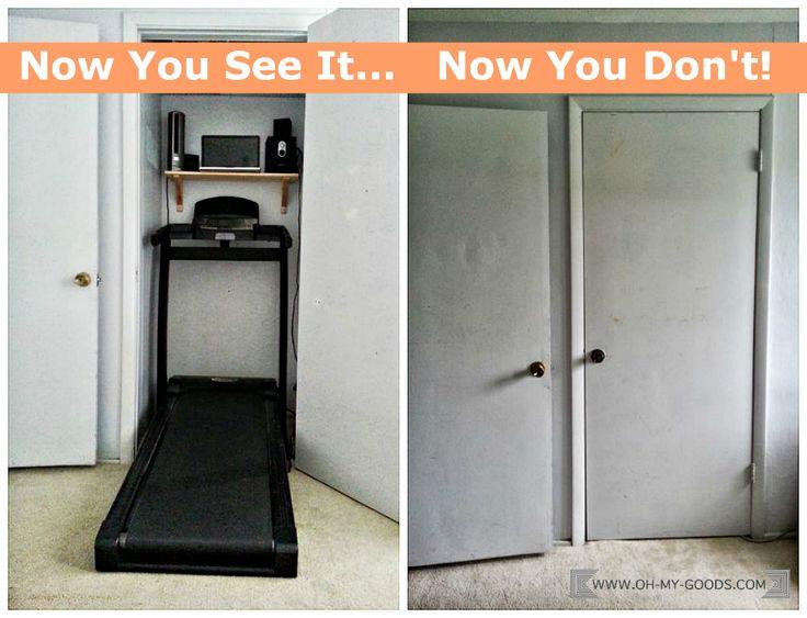 Declutter guest room closet and make a Treadmill Closet ...