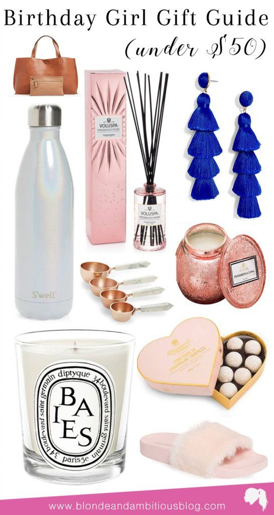 Birthday Gift Guide For Her - Under $50 | gift guide, birthday gift guide, adult gift guide, adult birthday, 23rd birthday