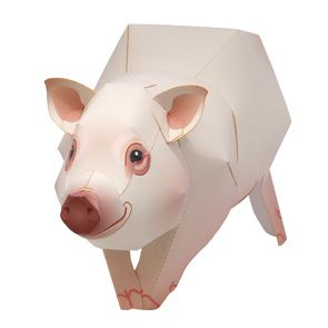 FREE PAPER CRAFTS~  Check out this site for this free downloadable paper miniature pig.  There are other animals, cards, calendars, and much more!
