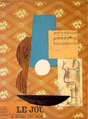 Picasso, Guitar, Sheet Music & Wine Glass