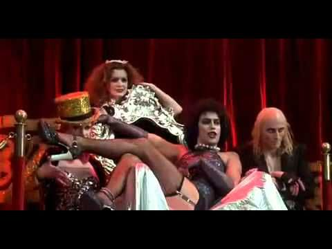 The Rocky Horror Picture Show Sweet Transvestite Scene - can you believe 40 YEARS AGO????