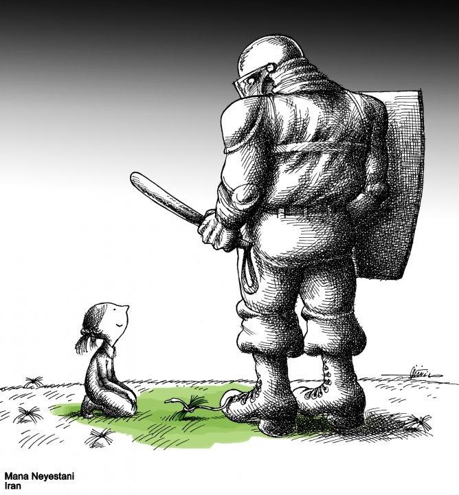 Mana Neyestani - iranian carikaturist