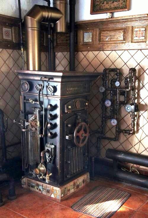 Steampunk boiler steampunk furniture pinterest for Steampunk kitchen accessories