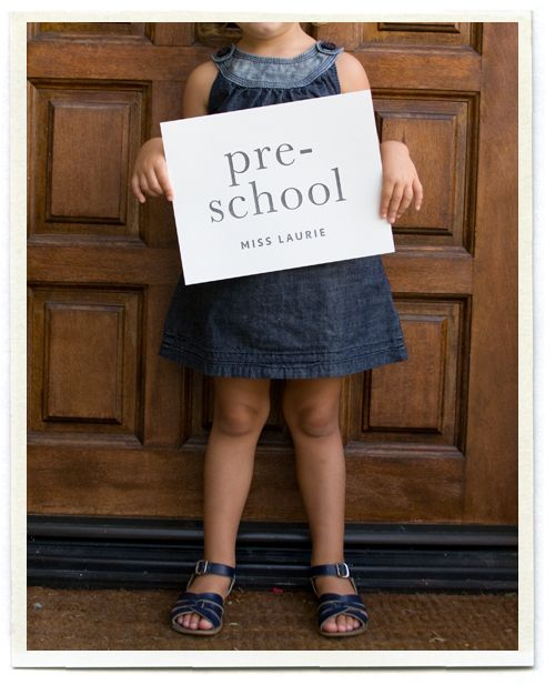 first day of school idea