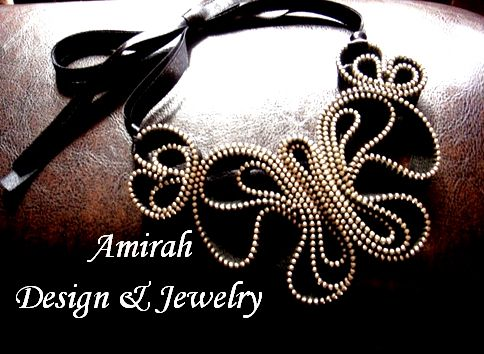 Zipper necklace by Amirah Design & Jewelry