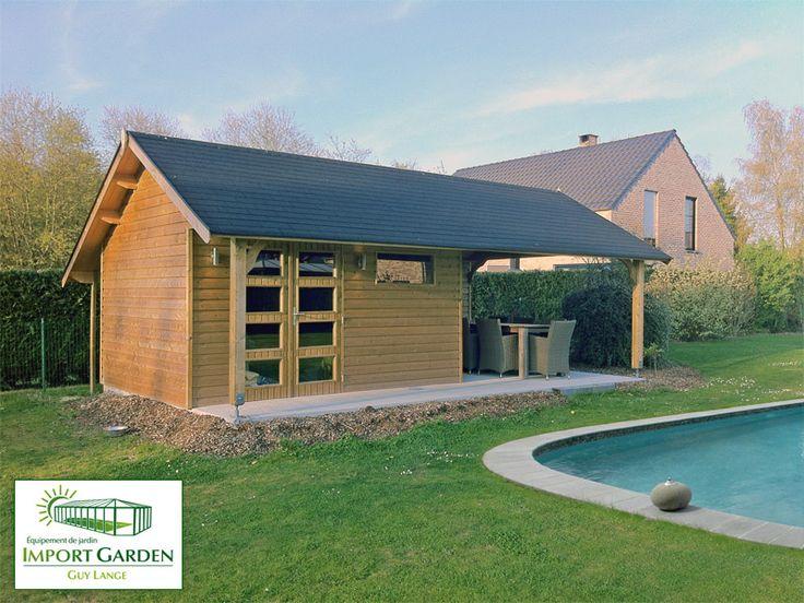 L'#abri pool-house pour #piscine peut accueillir les accessoires de votre piscine, un #spa ou un #jacuzzi ou encore une salle à manger d'été... #poolhouse