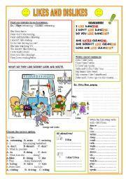 English Worksheets: Likes and Dislikes