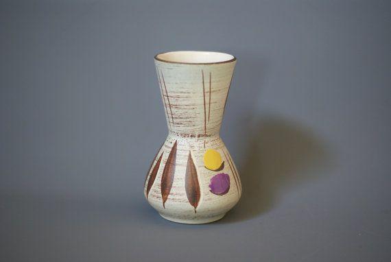 Vaso di ceramica tedesco WEST Small Bay Keramik di CurialVintage