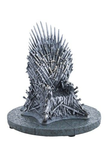 "Get this iconic 7"" Iron Throne Replica to complete your Game of Thrones collection."