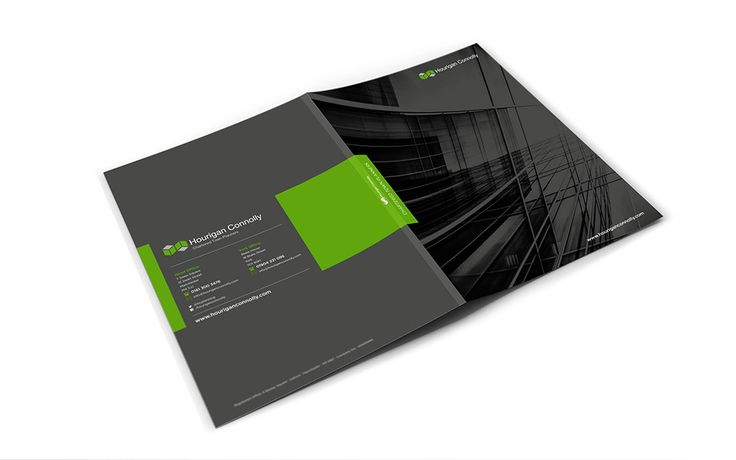 A4 Folder Design for Hourigan Connolly Town Planners