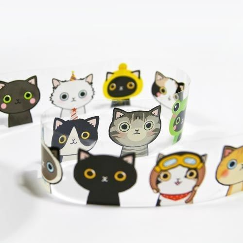 Diary Deco Sticker Big Lovely Cat ver Tape Illust Daily