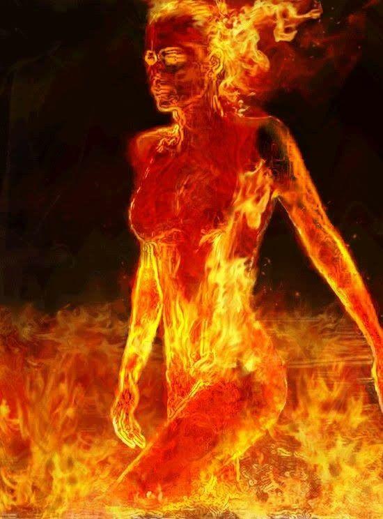 Картинки девушка горит