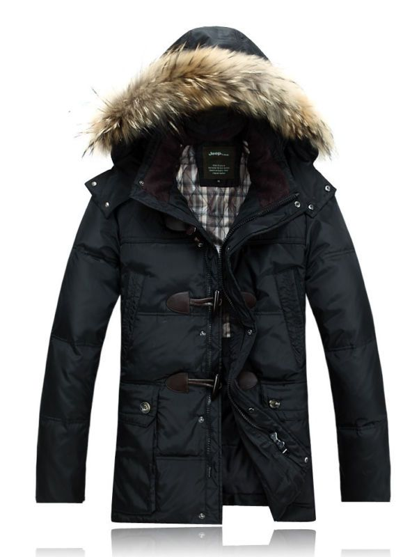 fashion mens Duck Down Coat hooded thicken Warm Winter Parka jacket overcoat new