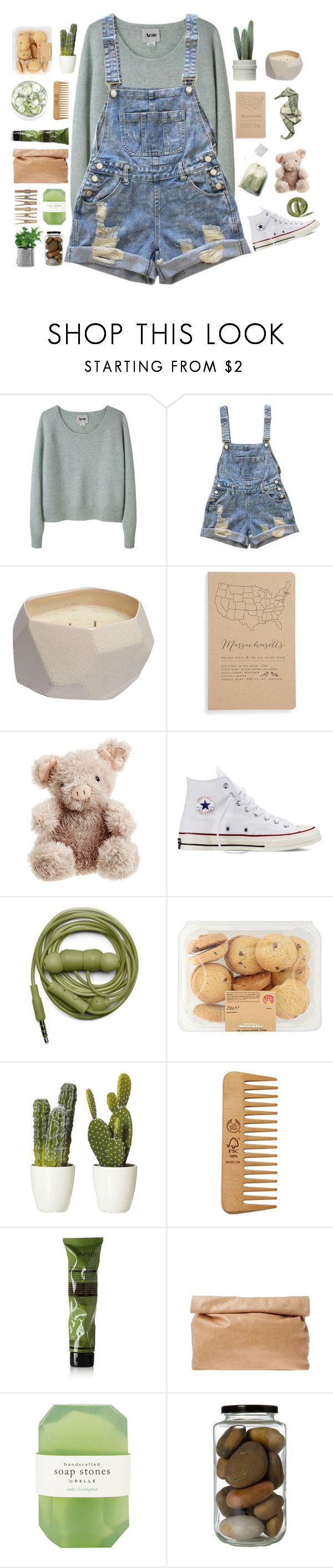 """""""🌵"""" by abbeyso on Polyvore featuring Acne Studios, Rebecca Taylor, Blackbird Letterpress, Jellycat, Converse, Urbanears, The Body Shop, Aesop, Marie Turnor and Pelle"""