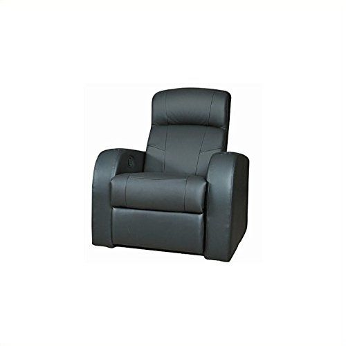 #relief This luxurious leather theater seating recliner will be a stylish addition to your family room or #home theater. High back cushions with padded headrests...