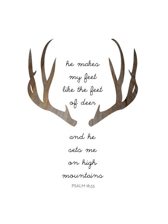 Deer Bible Verse Deer Prints Modern by MelindaWoodDesigns on Etsy