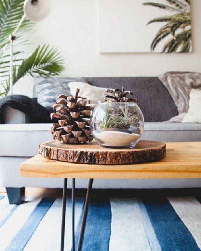 1001 Idees De Deco Table Basse Reussie Ou Comment Decorer La Table De Salon Deco Table Basse Deco Pomme De Pin Decoration Table Basse