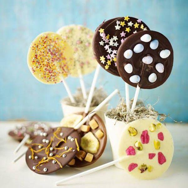 Piruletas de chocolate fáciles