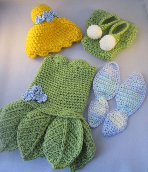 Baby Fairy Handmade Crocheted Outfit/ By