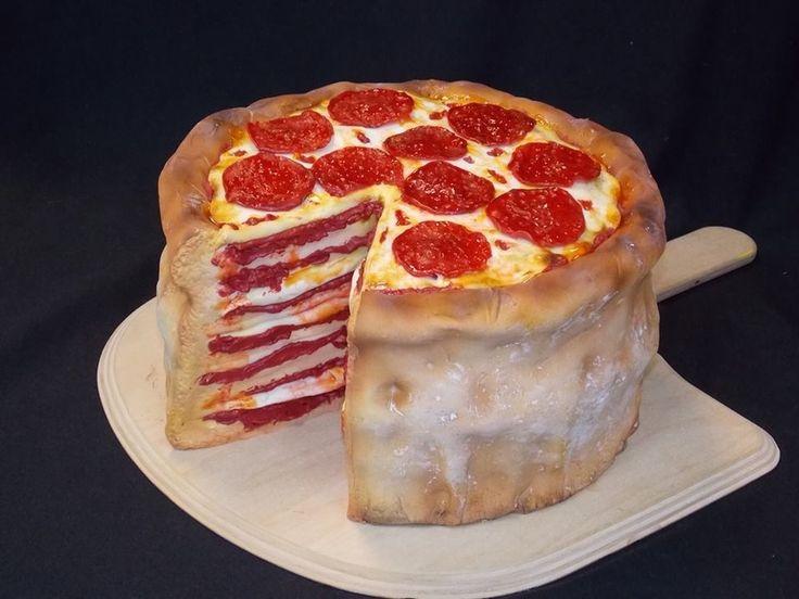 Pizza Groom's Cake