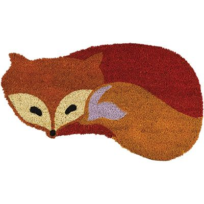 Fox+Shaped+Coir+Mat