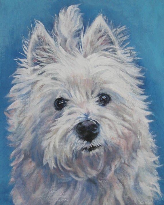 8 x 10 pouces impression West Highland Terrier chien toile giclée par L.A.Shepard    Sur lEstampe :    Cette image de lédition ouverte mesure 8 x 10 pouces et est imprimée sur toile feuille de 8,5 « x 11 » avec des encres darchivage.    Jutilise une toile spécialement conçue pour les estampes darchivage. Votre impression Giclée viendra sur une feuille de très haute qualité de la toile plate, ressemblant à la peinture originale et peut être facilement encadrée dans un cadre standard avec un…