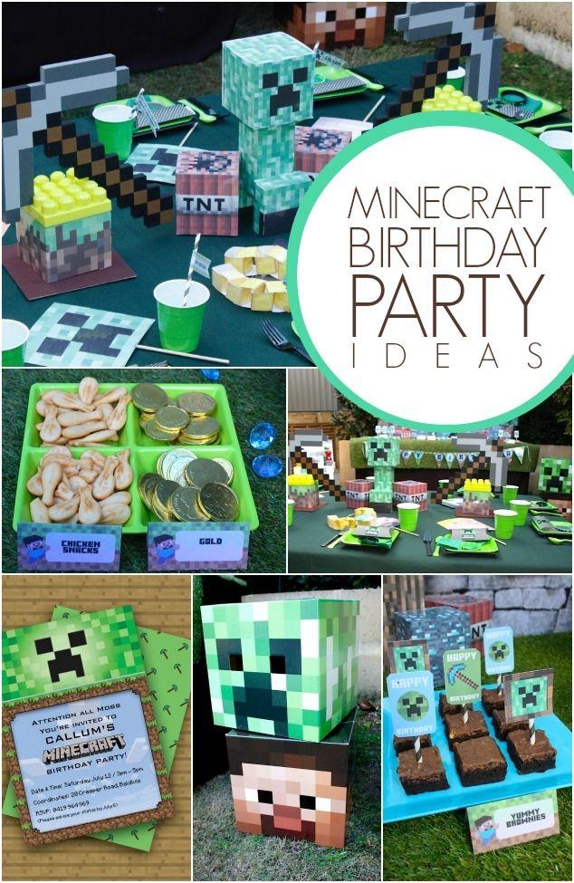 Minecraft Birthday Party Ideas for Boys www.spaceshipsandlaserbeams.com