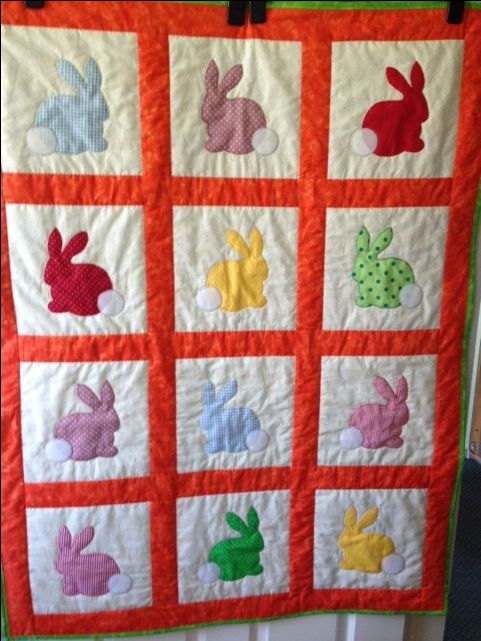 Rabbit Quilt for Project Linus (March 2016)