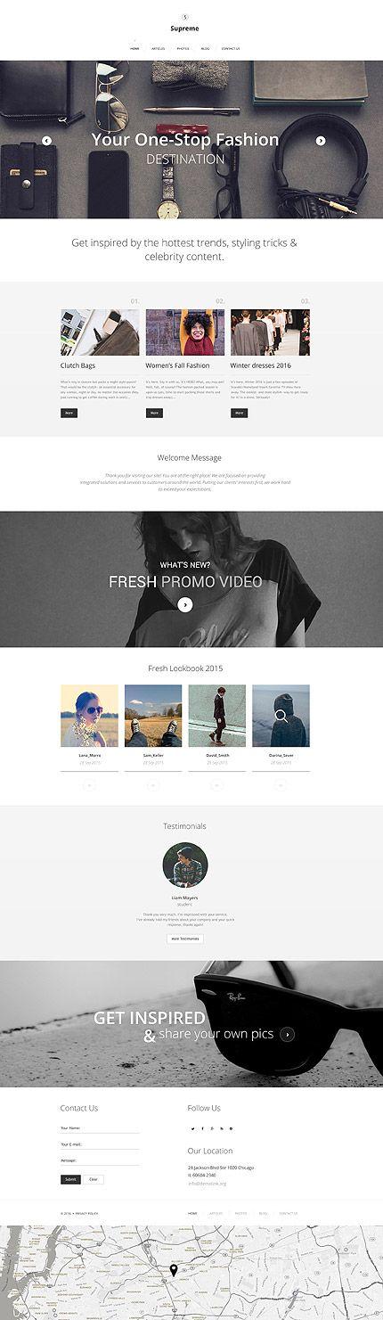 Met het mode #wordpress template maak je een goede start met je mode blog. Dit template is voorzien van alle mogelijke opties om de aandacht van je publiek te trekken. Denk hierbij aan opties voor het inschrijven voor je nieuwsbrief, video en nog veel meer.