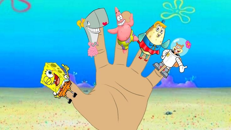 SpongeBob Squarepants Finger Family Song, Nursery Rhymes, video for chil...