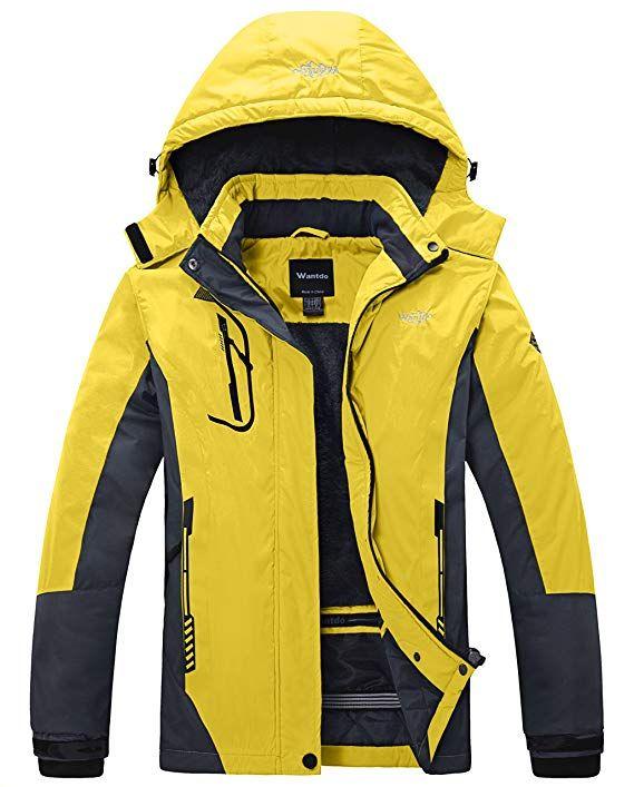 4768716eaf Wantdo Women s Mountain Waterproof Ski Jacket Windproof Rain Jacket Warm  Fabric  Professional water repellent coated