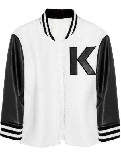 Shopping de día (y para la noche): chaqueta de tweed bicolor de Karl Lagerfeld