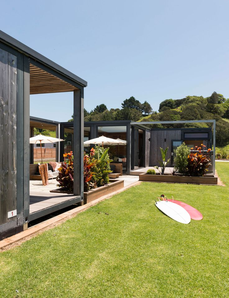 Recycled shipping containers become the ultimate getaway in Whananaki