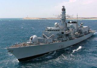 HMS Somerset, a Type 23 frigate. Photo from Wikimedia.